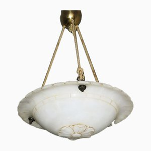 Mid-Century Alabaster Pendant Ceiling Light