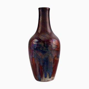 Antike Vase aus Keramik mit Glasur von Karl Hansen Reistrup für Kähler, 1890er