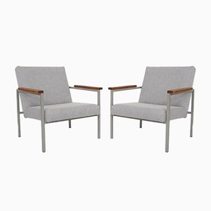 Mid-Century Dutch Lounge Chairs, 1960s, Set of 2