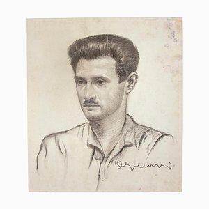 Inconnu - Portrait - Crayon Original sur Papier - 20ème Siècle