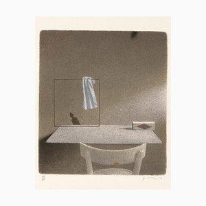 Gianfranco Ferroni - Stuhl und Square with a Rag - Original Lithograph - 1991