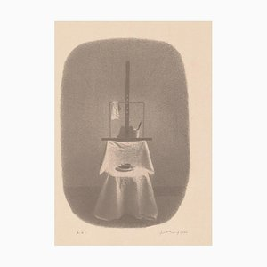 Gianfranco Ferroni - Chair and Easel - Original Lithograph - 2000