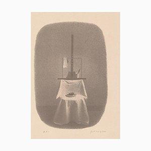 Gianfranco Ferroni - Stuhl und Staffelei - Original Lithographie - 2000