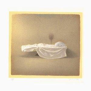 Lithographie de Gianfranco Ferroni - the Cot - Original - 1992