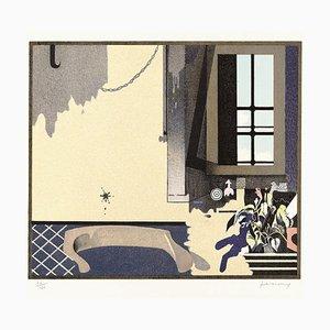 Gianfranco Ferroni - Innen und Außen - Original Lithographie - 1973