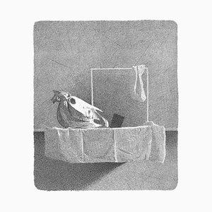 Gianfranco Ferroni - Equine Skull - Original Etching - 1992