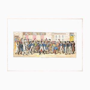Carl Gustaf Hyalmar Morner - Pferderennen - Original Radierung - 1820