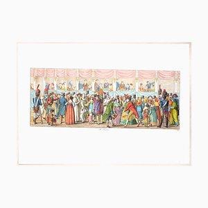 Acquaforte originale di Carl Gustaf Hyalmar Morner - the Feast - 1820