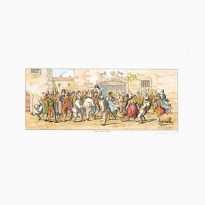 Carl Gustaf Hyalmar Morner - Dancing in the Street - Original Etching - 1820