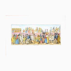 Carl Gustaf Hyalmar Morner - Rome, Piazza Del Popolo - Original Etching - 1820