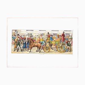 Carl Gustaf Hyalmar Morner - I Moccoletti - Originale Radierung - 1820