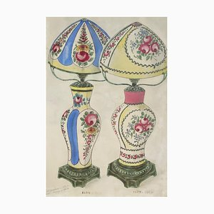 Unknown - Porcelain Lumen - Original China ink and Watercolor - 1890s