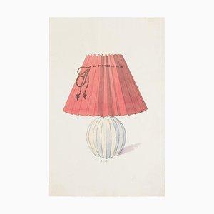 Unbekannt - Lampe - Original Tinte und Aquarell aus China - Spätes 19. Jahrhundert