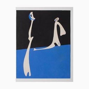 Litografia Joan Miró - Abstract Composition - Offset originale e litografia di Joan Miró - 1940