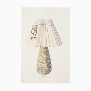 Unknown - Lamp - China china and Watercolor - Late 19th century