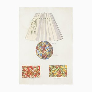 Unknown - Lamp and Decoration - Original ink and Watercolor - 1890s