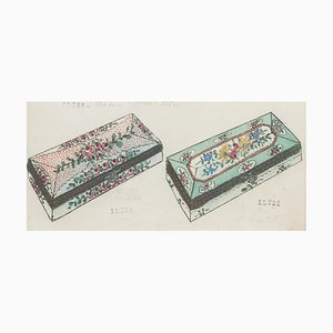 Unknown - Porzellan Boxe - Original Tinte und Aquarell aus China - 1890er