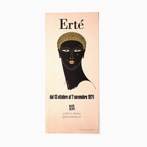 Imprimé - Ertè - Affiche d'Exposition Vintage - Sérigraphie et Impression Offset - 1971