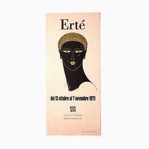 Unknown - Ertè - Vintage Ausstellungsplakat - Siebdruck und Offsetdruck - 1971