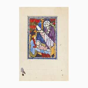 Paul Bony - Maitre Verrier - China Tinte und Aquarell - Mitte des 20. Jahrhunderts