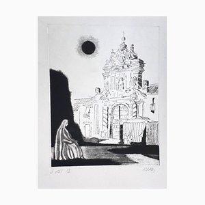 Robert Naly - Portal - Originale Radierung - 1950er Jahre