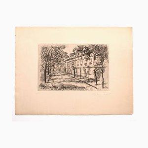 Sconosciuto - Landscape - Original Etching on Paper - 1927