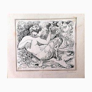 Unknown - the Satyr - Original China Tinte - 1880er