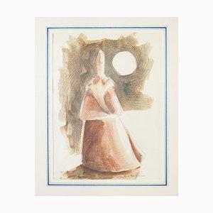 Giovanni Botta - Frauenfigur - Original Lithographie - 20. Jahrhundert