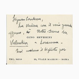 Gino Severini - Gino Severini's Business Cards with Notes - 1940s