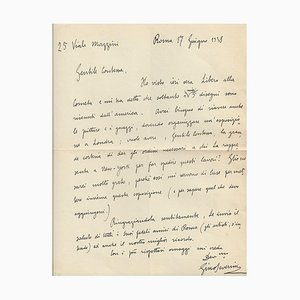 Gino Severini - Autogrammbrief von Gino Severini - 1938