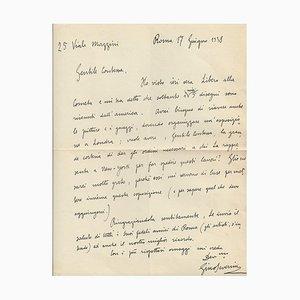 Lettre Gino Severini Signée par Gino Severini - 1938