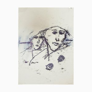 Unknown - the Couple - Original Monotype - 1985