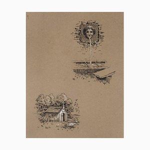 Unknown - Studies - Original China Tinte auf Papier - Spätes 19. Jahrhundert