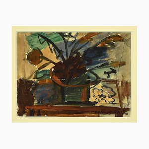 Unknown - Still Life - Original Mixed Media on Cardboard - 1950s