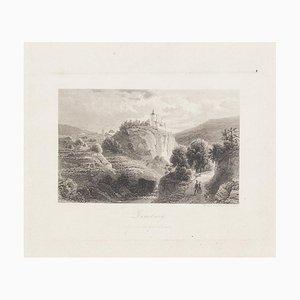 D. Lloyd - Ansicht der Zenoburg - Original Radierung - Frühes 20. Jahrhundert