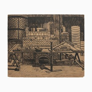 Unknown - Reconstruction - Original Lithografie auf Papier - 1940er