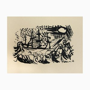 Unknown - Composition - Original Lithograph on Paper - 1950s