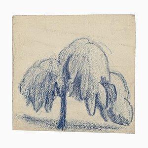 Marcel Pastel - Árbol - Dibujo pastel original - Mid-20th Century