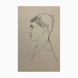Tibor Gertler - Portrait - Original China ink on Paper - 1950s