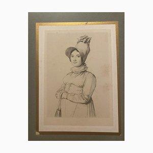 Unknown - Porträt einer Frau - Original Radierung auf Papier - 19. Jahrhundert
