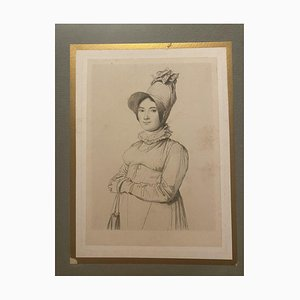 Unknown - Portrait of a Woman - Original Etching on Paper - 19th Century