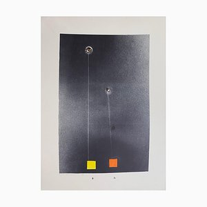 Gianni Saccomandi - Variationen in the Ether - Original Lithographie - 1974