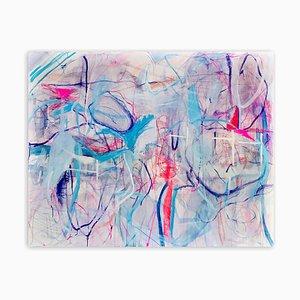 Danza e salto attraverso l'abisso, dipinto astratto espressionista, 2020