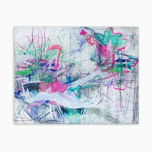 Love is the Threshold of Another Universe, Abstract Expressionism Painting, 2020