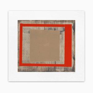 Rote Esche aus Eiche, Abstrakter Druck, 2013