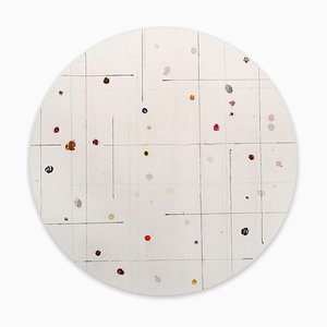 Tondo 10, Pittura astratta, 2020