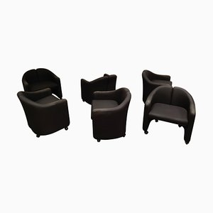 Armchairs by Eugenio Gerlio for Tecno, 1980s, Set of 6