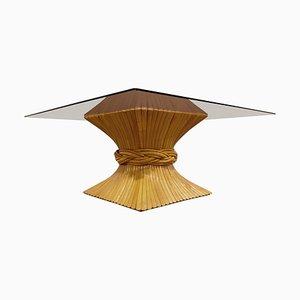 Bambus Couchtisch von Mcguire, 1980er