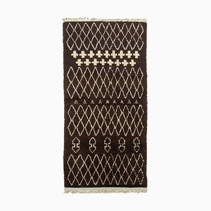 Vintage Brown Moroccan Rug