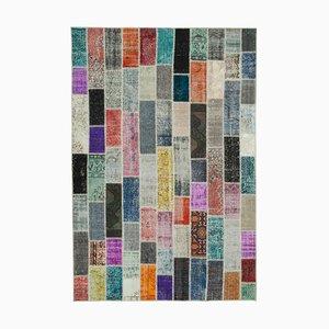Modern Multicolor Patchwork Rug